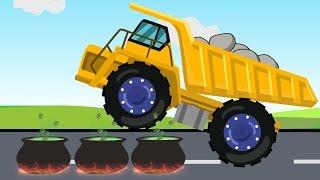 Dump Truck For Children | Stunts & Actions | Wielka Wywrotka | Bajki dla dzieci