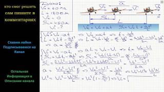 Физика Самолет касается посадочной полосы при скорости V0 = 60 м/с и останавливается, пробежав путь