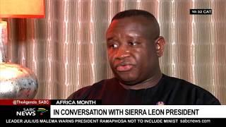 In conversation with Sierra Leone President Julius Maada Bio