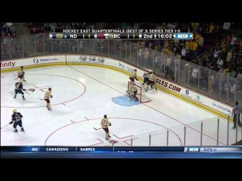 Notre Dame at Boston College Highlights - Hockey East Quarterfinals - 03/16/2014