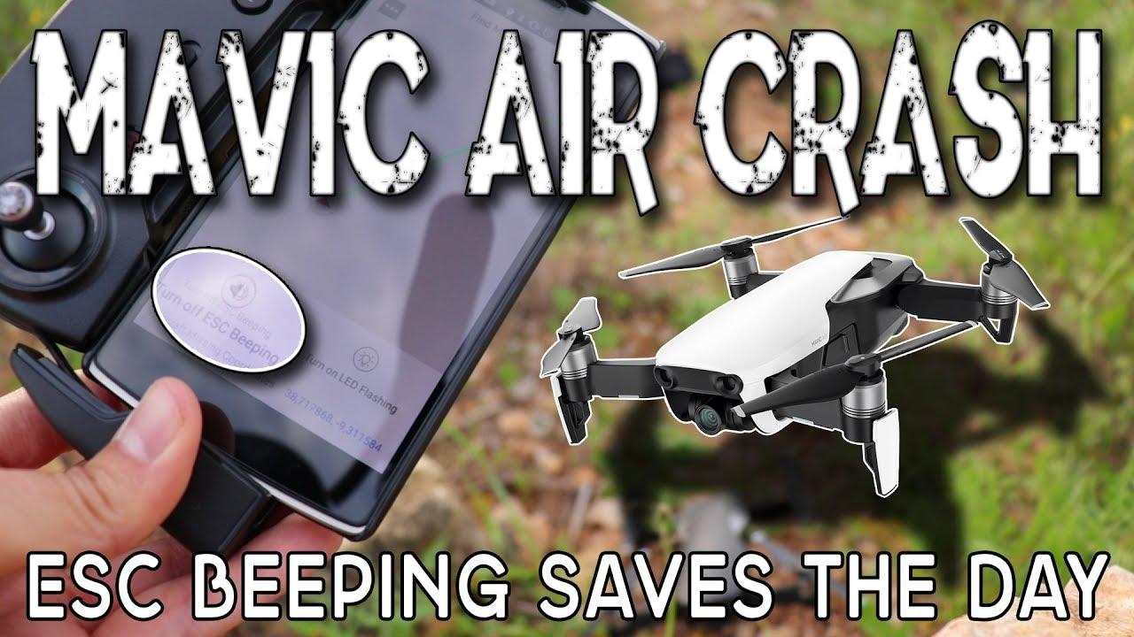 Mavic Air Crash - Found by ESC Beeping