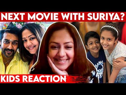 Kids Reaction for Suriya & My Movies 🥰: Jyothika Interview | Diya, Dev | Udanpirappe, Jai Bhim