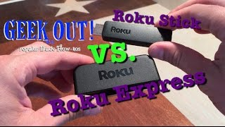 Roku Comparison: Roku Stick vs. Roku Express