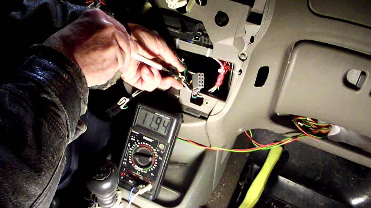 Установка проводки в салоне для подогрева сидений, Емеля УК-2.   Калина 11183