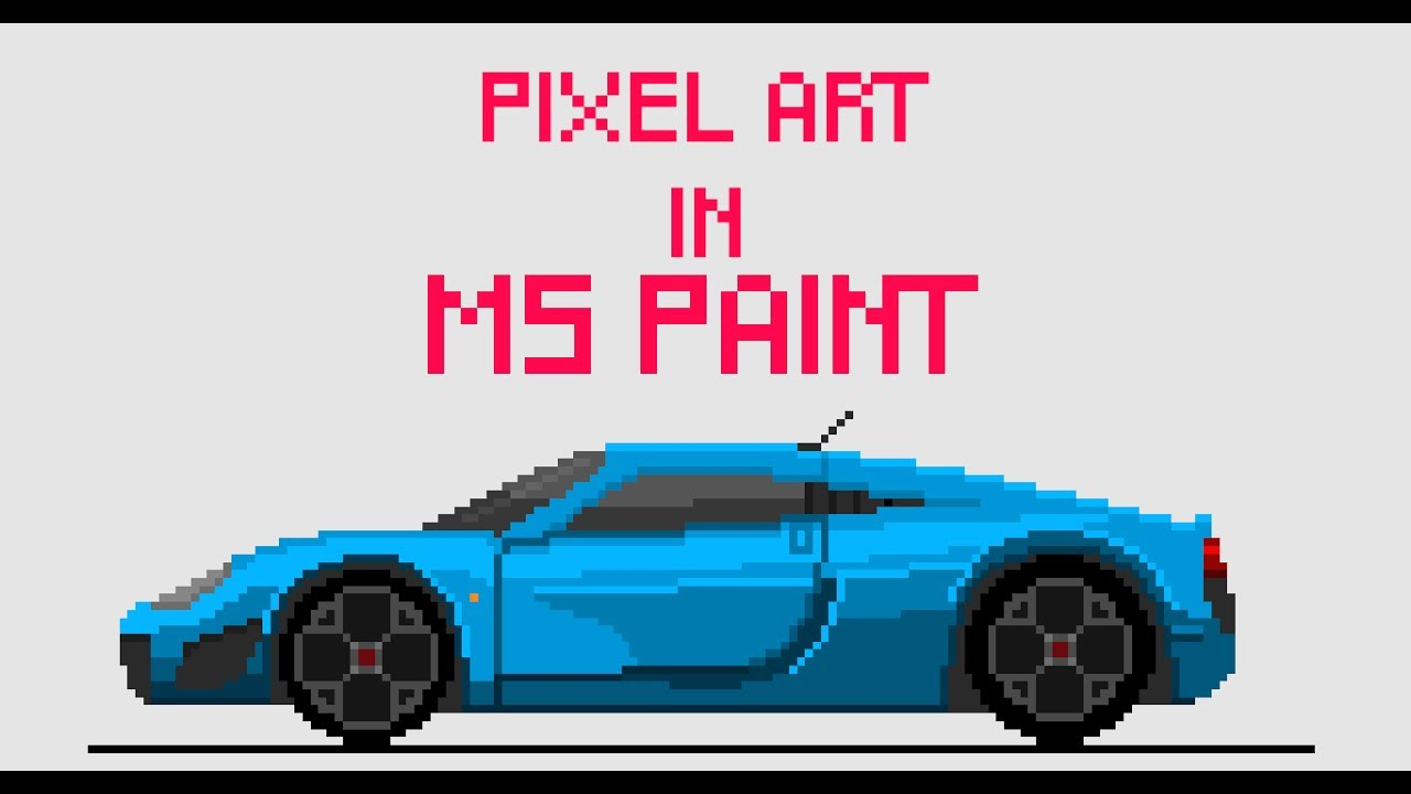 Making Pixel Art In Ms Paint Noble M600