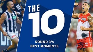 The 10: Best moments | Round 3, 2018 | AFL