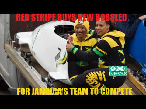 RED STRIPE BUYS NEW BOBSLED FOR JAMAICA'S BOBSLEIGH TEAM FOR 2018 WINTER OLYMPICS