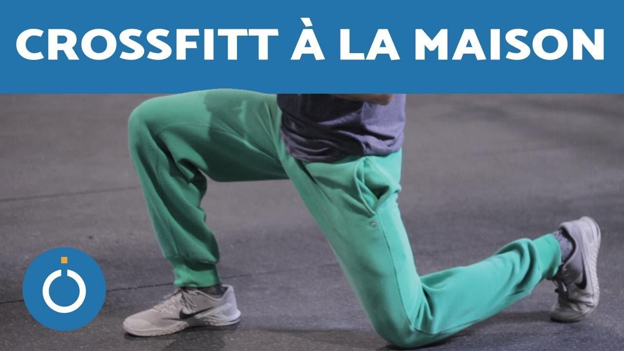 Exercices de CROSSFIT À LA MAISON - Faire les JAMBES - YouTube