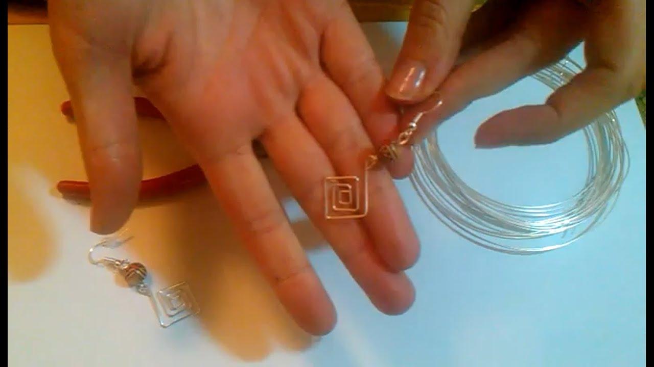Extrem Ohrringe selber machen - Anleitung für Ohrringe aus Silberdraht MT88