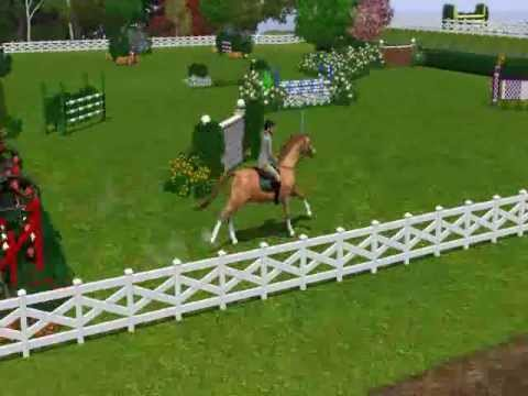 Sims 3 Horse Grand Prix Show Jumping Youtube
