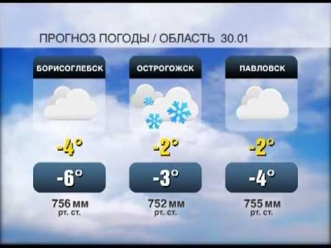 Прогноз погоды  в Воронеже и Воронежской области