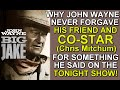 Why JOHN WAYNE NEVER FORGAVE his co-star in BIG JAKE, Chris Mitchum for something he said on TV!