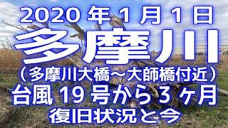 2020年1月1日「多摩川」台風19号から3ヵ月後の被害&復旧状況