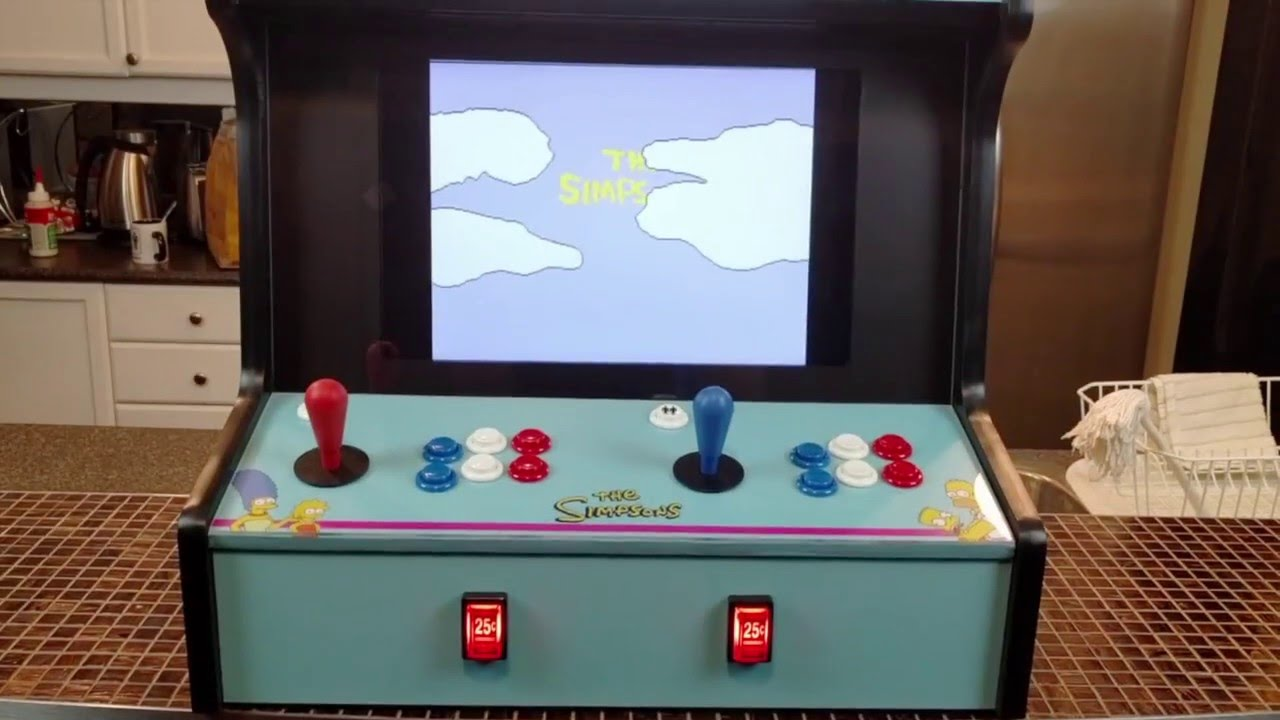 Simpsons 2 Player Bartop Arcade Cabinet Youtube