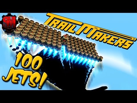 100 THRUSTERS! (Trying to Land on a Floating Island) - TrailMakers Gameplay Ep3