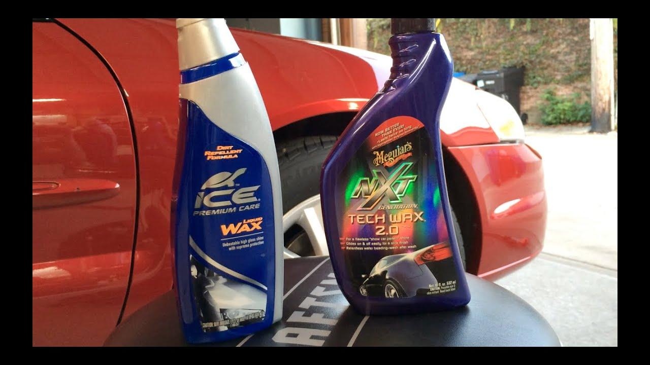Turtle Wax Ice Liquid Wax Vs Meguiar S Nxt Tech Wax 2 0 Water