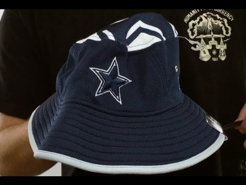 ab416d7d15145 Cowboys  TOPPER TRAINING BUCKET  Navy Hat by New Era - YouTube