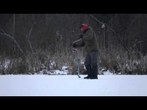 Lithuania winter fishing -18°C