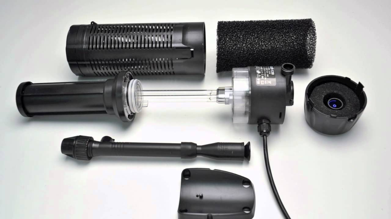 Uvcp 9 submersible pond uv sterilizer with pump fountain for Uv pond pump