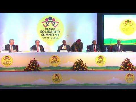 Donors pledge millions at Uganda refugee summit