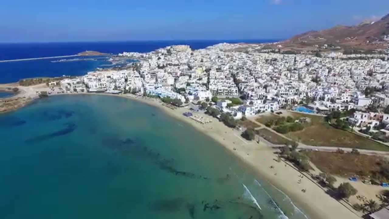 Naxos Aerial Saint George Beach From The Air Greece 2017