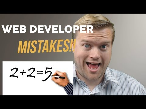 The 5 Most Common Mistakes Web Developers Make