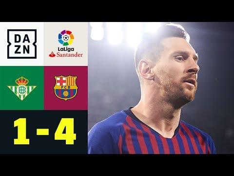Dreierpack! Die Welt staunt über Lionel Messi: Real Betis - FC Barcelona 1:4   La Liga   DAZN