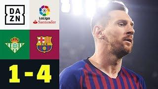 Dreierpack! Die Welt staunt über Lionel Messi: Real Betis - FC Barcelona 1:4 | La Liga | DAZN