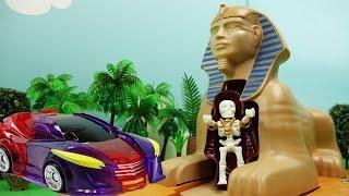 터닝메카드W 스핑크스의 저주 & 하이드론의 탈출 - 뽀로로 장난감 애니 - Turning MecardW & Playmobil Sphinx 4242 Toy Animation