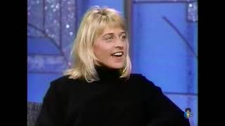 Ellen on the Arsenio Hall Show, 1990 (interviewed and stand-up)