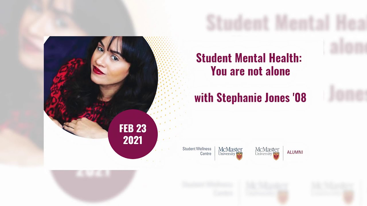 Image for Student Mental Health: You are not alone, with Stephanie Jones '08 webinar