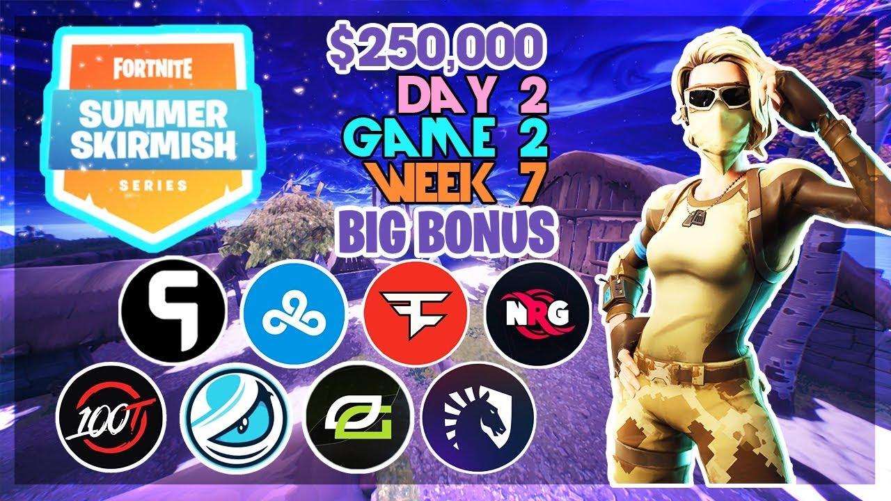 250 000 Big Bonus Summer Skirmish Week 7 Day 2 Game 2 Fortnite