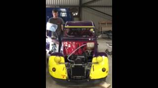 Crisis Car 36 with BMW engine running