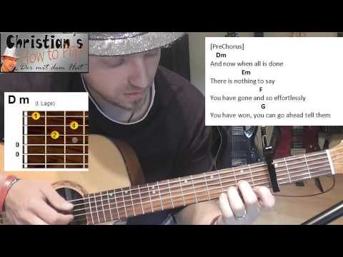 James Arthur IMPOSSIBLE Tabs Akkorde Akustik Gitarren Lesson Tutorial [HD] Deutsch