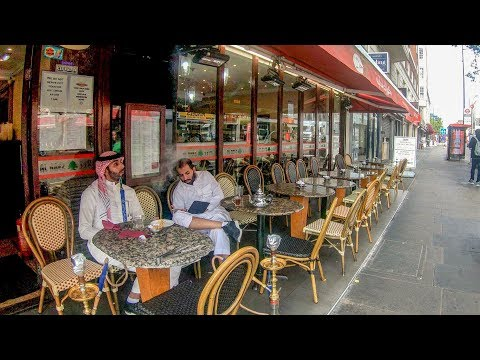 Edgware Road. London Most Arabic And Middle Eastern Street. Walk Around