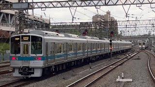 小田急1000形1253編成(幕車未更新車)が発車するシーン