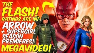 Flash S5 Ratings Are In! Supergirl + Arrow PREMIERES! MEGAVIDEO!