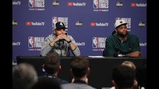 Stephen Curry and DeMarcus Cousins - Full Press Conference   Game 2   Warriors vs Raptors