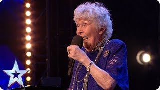 90-year-old Audrey Leybourne rolls back the years! | Auditions | BGT 2018