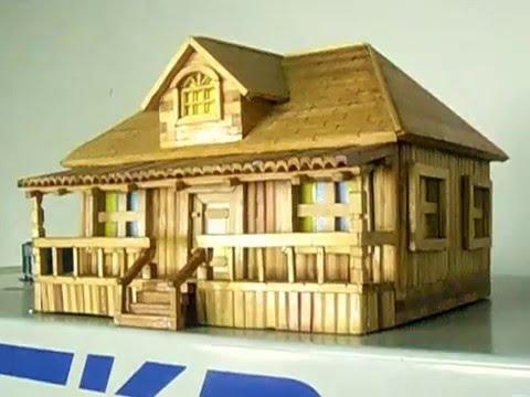 Miniatura de casa de madeira youtube - Casas miniaturas para construir ...