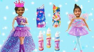 MASAL VE ÖYKÜYE BÜYÜK SÜRPRİZ BARBİE RENK ATÖLYESİ Barbie Spin Art Designer - Funniest Kids Videos