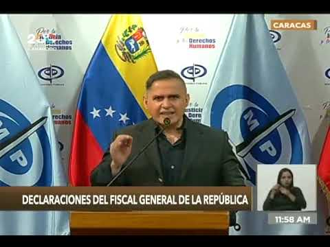 Fiscal General Tarek William Saab sobre dos niños asesinados en Tibu, Colombia, 12 octubre 2021