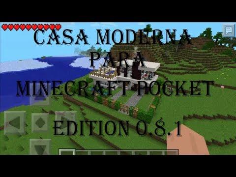 Casa moderna para minecraft pocket edition 0 8 1 descarga for Casa moderna en minecraft pe 0 16 0
