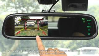 New Product----Touch Button Car Rearview Mirror Monitor with Temperaturer,compass