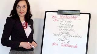 Німецька - супер уроки! Deutsch.Wochentage - дні тижня. Онлайн школа Mandarin.