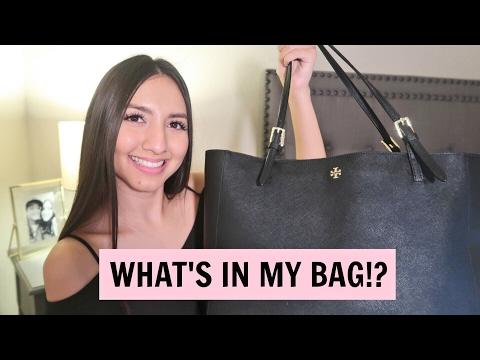 WHAT'S IN MY BAG!? Tory Burch York Tote | Karla Grajeda