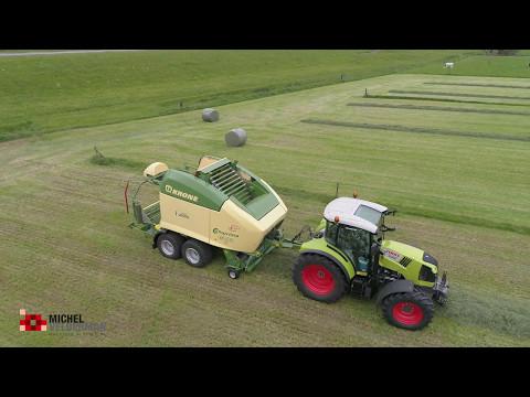 J.W.D. Markvoort met nieuwe Claas Arion 440 en Krone Comprima CF 155 XC X-Treme