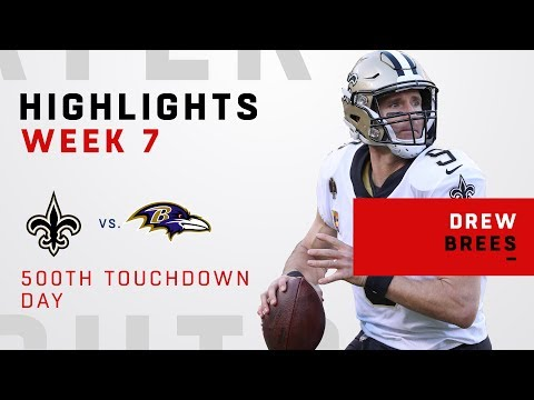 Drew Brees Highlights on His Career Milestone Day!