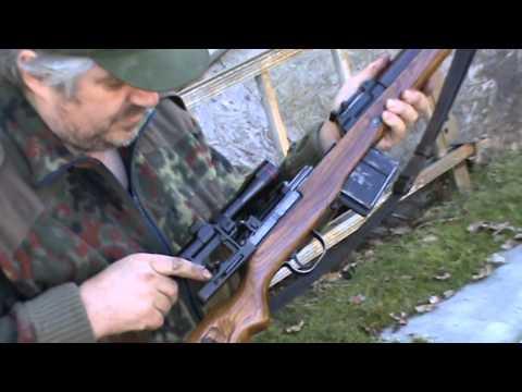 Shooting walther gewehr 43 in Sweden sniper rifle