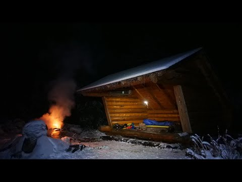 Solo Winter Shelter Camp After An Icestorm - Ice Fishing & New Gear
